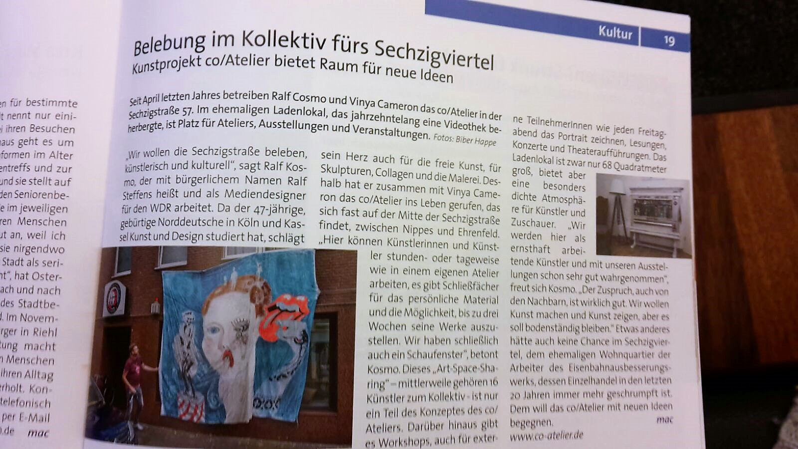 Zeitungsartikel co/Atelier | Press article about co/Atelier