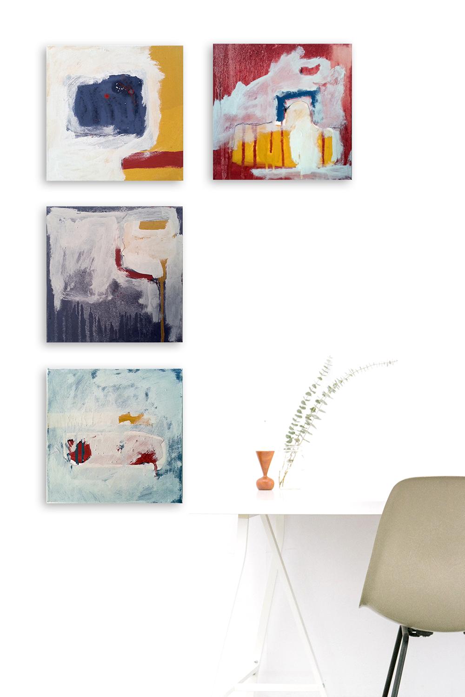 Artwork by Vinya Cameron | Études 2016 | Acrylics and on canvas