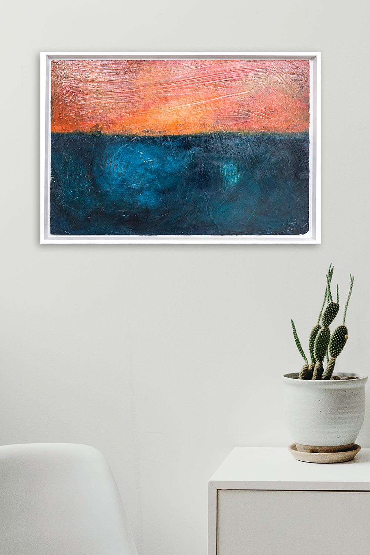 Artwork by Vinya Cameron | Summerblues 2015 | Acrylics and Chalk on wood
